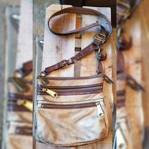 Fossil Metallic Crossbody Bag